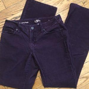 Loft purple corduroy pants size 4